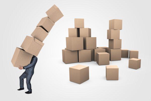 Hoeveel dozen passen er in een container?